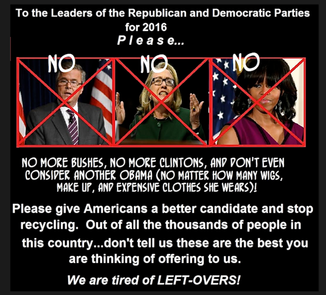 We are tired of left-overs!